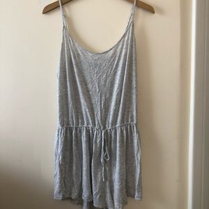 Grey Cotton Sleep Romper